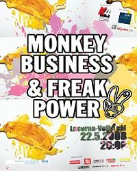 Monkey Business & Freak Power flyer