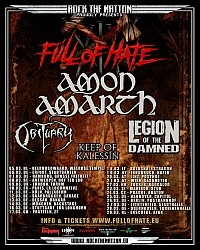 Amon Amarth flyer (Full Of Hate Tour)