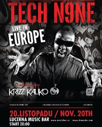Tech N9ne v Lucerna Music Baru flyer